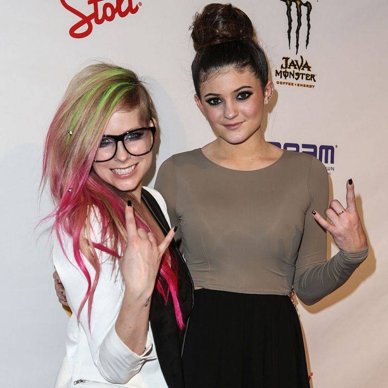 NEW YORK, NY - SEPTEMBER 10:  Designer Avril Lavigne (L) and model Kylie Jenner attend Abbey Dawn By Avril Lavigne Spring 2013 at the Metropolitan Pavilion on September 10, 2012 in New York City.  (Photo by Chelsea Lauren/Getty Images)