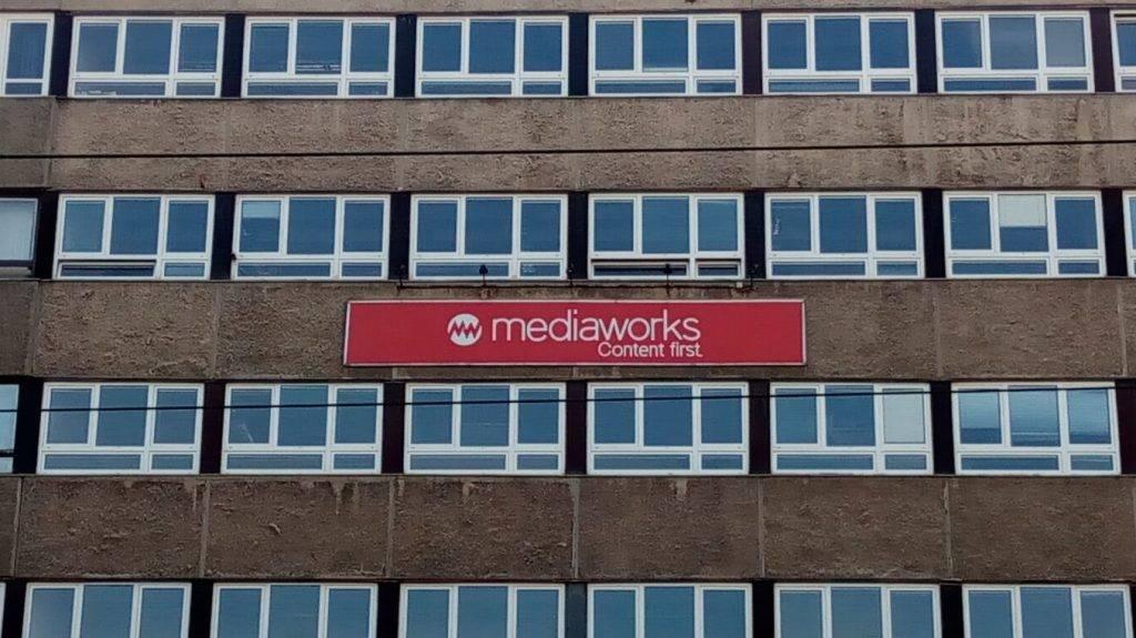 A Mediaworks budapesti központja a bezárt Népszabadság épületében. Fotó: Szalay Dániel