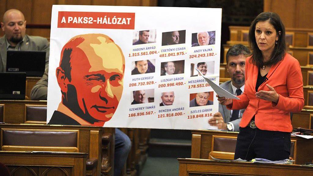 Budapest, 2017. május 29.Szél Bernadett, az LMP frakcióvezetője azonnali kérdést tesz fel az Országgyűlés plenáris ülésén 2017. május 29-én.MTI Fotó: Kovács Attila