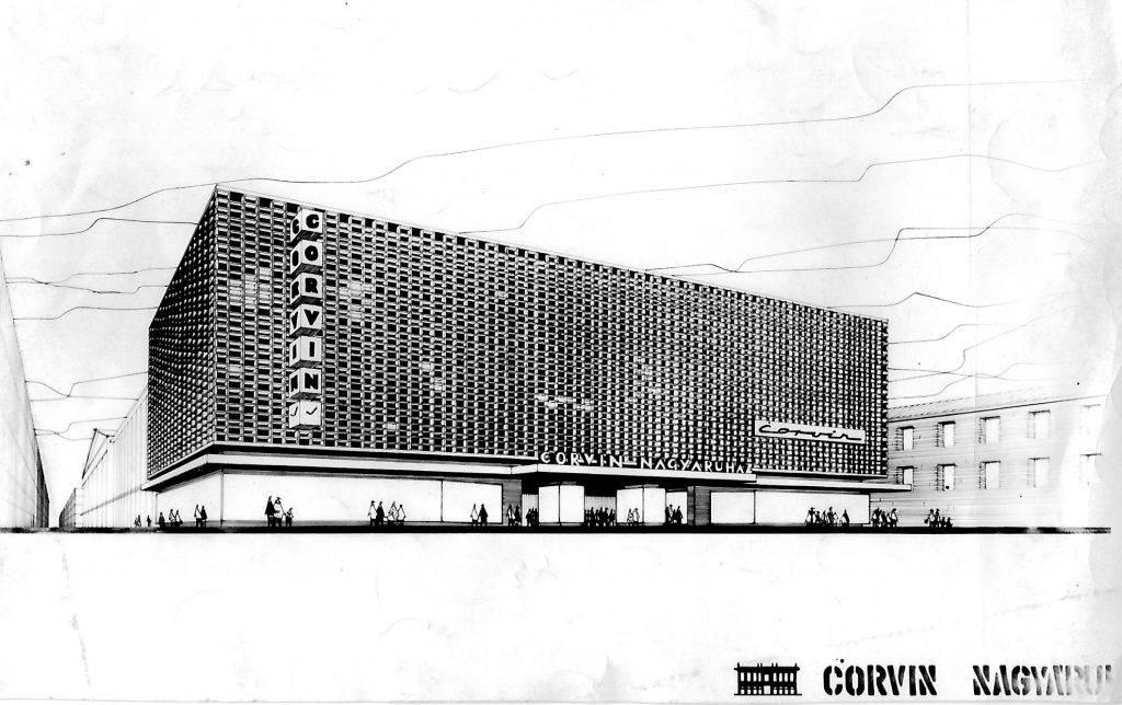 A kÈpen  Corvin ¡ruh·z homlokzat·nak ·talakÌt·s·ra kiÌrt p·ly·zat egyik l·tv·nyterve l·thatÛ. Tov·bbi megnevezÈs: Centrum ¡ruh·zak 1960-as 1970-es Èvek