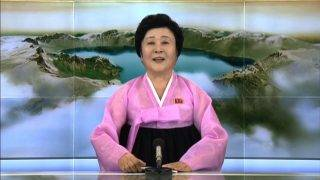 """This screen grab image taken from North Korean broadcaster KCTV on September 3, 2017 shows the North's favourite newsreader Ri Chun-Hee announcing, from an unknown location, the news that the country had successfully tested a hydrogen bomb. North Korea declared itself a thermonuclear power on September 3, 2017, after carrying out a sixth nuclear test more powerful than any it has previously detonated, presenting President Donald Trump with a potent challenge. Ri Chun-Hee has previously told her loyal viewers of the deaths of the country's founder Kim Il-Sung and his son Kim Jong-Il, several of the nuclear tests that have seen it subjected to multiple rounds of United Nations sanctions. / AFP PHOTO / KCTV / Handout / -----EDITORS NOTE --- RESTRICTED TO EDITORIAL USE - MANDATORY CREDIT """"AFP PHOTO / KCTV"""" - NO MARKETING - NO ADVERTISING CAMPAIGNS - DISTRIBUTED AS A SERVICE TO CLIENTS"""