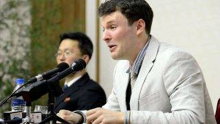 """(FILES) This file photo taken on February 29, 2016 and released by North Korea's official Korean Central News Agency (KCNA) on March 1, 2016 shows US student Otto Frederick Warmbier, who was arrested for committing hostile acts against North Korea, speaking at a press conference in Pyongyang.   REPUBLIC OF KOREA OUT AFP PHOTO / KCNA via KNSTHIS PICTURE WAS MADE AVAILABLE BY A THIRD PARTY. AFP CAN NOT INDEPENDENTLY VERIFY THE AUTHENTICITY, LOCATION, DATE AND CONTENT OF THIS IMAGE. THIS PHOTO IS DISTRIBUTED EXACTLY AS RECEIVED BY AFP. ---EDITORS NOTE--- RESTRICTED TO EDITORIAL USE - MANDATORY CREDIT """"AFP PHOTO/KCNA VIA KNS"""" - NO MARKETING NO ADVERTISING CAMPAIGNS - DISTRIBUTED AS A SERVICE TO CLIENTS US President Donald Trump on September 26, 2017 accused North Korea of brutally abusing an American student who had been held captive in North Korea, saying the young man had been """"tortured beyond belief."""" Otto Warmbier, 22, died in June a few days after he was sent home in a mysterious coma after more than a year in prison in North Korea.Trump had previously blamed Pyongyang's """"brutal regime"""" for Warmbier's plight but it was the first time the president publicly accused North Korea of torture in the case. US officials have said Trump was personally taken aback by Warmbier's death and his comment Tuesday ratchets up the pressure on Kim Jong-Un's regime.  / AFP PHOTO / KCNA / KCNA VIA KNS"""