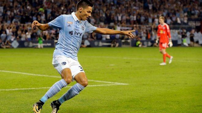 KANSAS CITY, KS - SEPTEMBER 20: Daniel Salloi #30 of Sporting Kansas City celebrates after scoring during the 2017 U.S Open Cup Final against the New York Red Bulls at Children's Mercy Park on September 20, 2017 in Kansas City, Kansas.   Jamie Squire/Getty Images/AFP