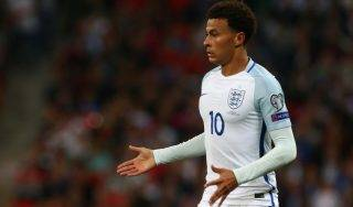 England's Dele Alli during World Cup Qualifying - European Group F match between England  and Slovakia  at Wembley stadium, London  on 05 Sept , 2017 (Photo by Kieran Galvin/NurPhoto)