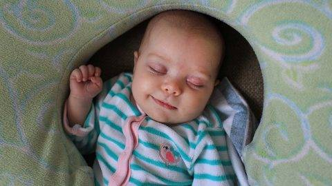 A two month old baby girl asleep. Photo Tim Clayton (Photo by Tim Clayton/Corbis via Getty Images)