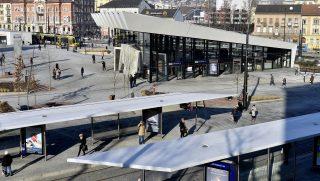 Budapest, 2017. január 11. A 2-es metróvonal Széll Kálmán téri állomásának felszíni épülete 2017. január 11-én. MTI Fotó: Máthé Zoltán