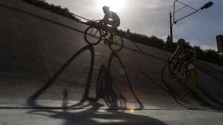 Budapest, 2012. szeptember 30.Az U23 és Elit futam a kerékpáros pálya országos bajnokságon a Millenáris Velodromban 2012. szeptember 30-án.MTI Fotó: Szigetváry Zsolt