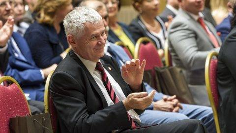 Budapest, 2016. július 15. Polt Péter legfõbb ügyész a bíróságok napja alkalmából rendezett ünnepségen az Országos Bírósági Hivatal (OBH) épületének aulájában, Budapesten 2016. július 15-én. MTI Fotó: Szigetváry Zsolt