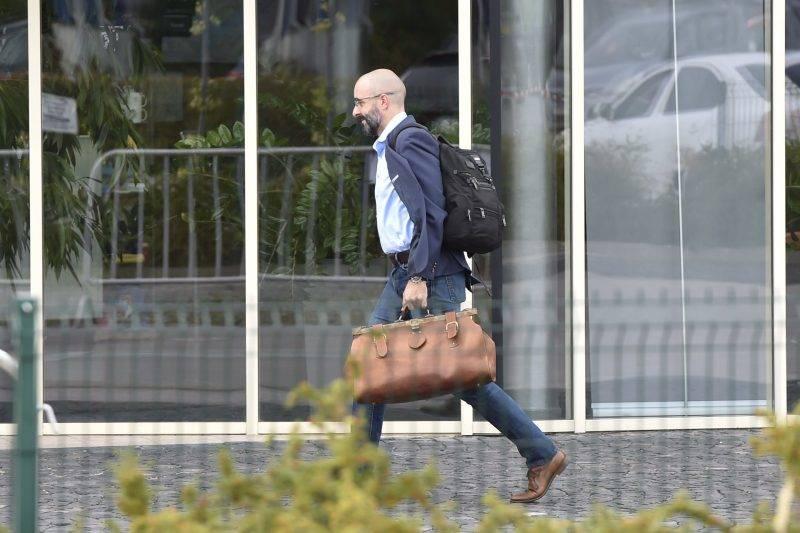 Velence, 2017. szeptember 13. Kovács Zoltán kormányszóvivõ érkezik a Fidesz-KDNP frakciószövetség háromnapos kihelyezett ülésére a velencei Velence Resort & Spa szállodába 2017. szeptember 13-án. MTI Fotó: Máthé Zoltán