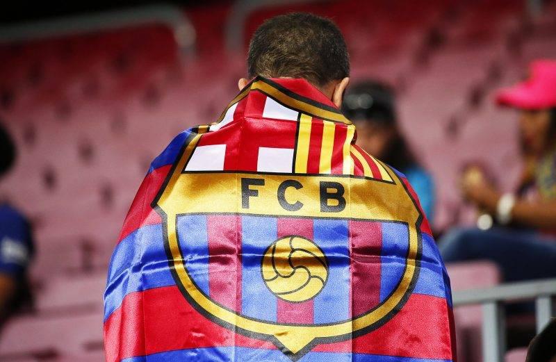 FC Barcelona supporter during La Liga match between FC Barcelona v SC Eibar , in Barcelona, on September 19, 2017.  (Photo by Urbanandsport/NurPhoto)