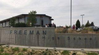Rockford, 2017. szeptember 14.  A Freeman középiskola épülete a Washington állambeli Rockfordban, ahol egy diák lelõtte egyik osztálytársát, másik hármat pedig súlyosan megsebesített 2017. szeptember 13-án.  (MTI/AP/AP)