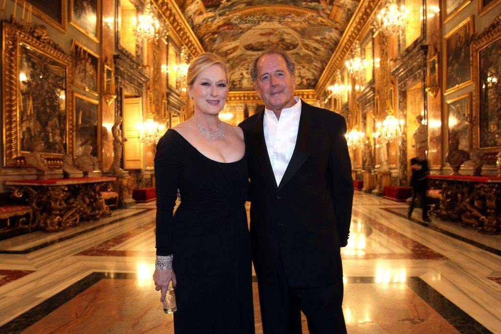 ROME - OCTOBER 23:  (NO ITALY SALES FOR 15 DAYS)  Actress Meryl Streep with her husband Don Gummer attend the Gala Dinner in honour of Meryl Streep during Day 9 of the 4th International Rome Film Festival held at the Palazzo Colonna on October 23, 2009 in Rome, Italy.  (Photo by Venturelli/WireImage)