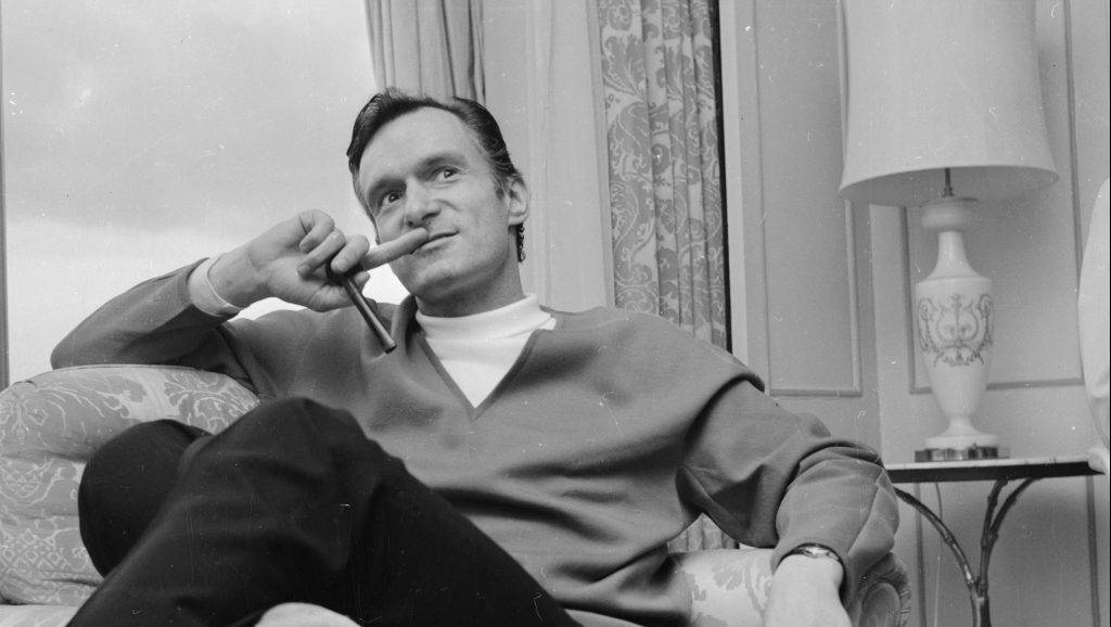 26th June 1966:  Millionaire Hugh Hefner, founder of the Playboy empire, during a visit to Britain.  (Photo by John Downing/Express/Getty Images)