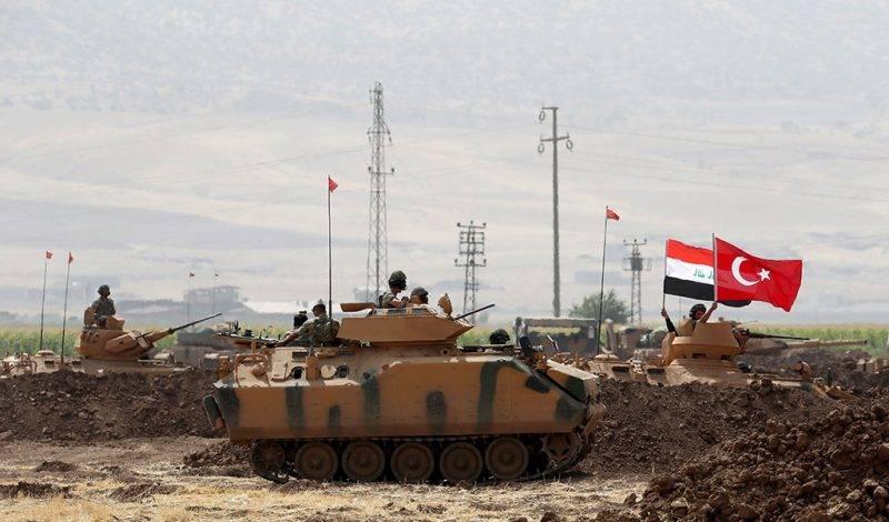 Silopi, 2017. szeptember 26.Török-iraki hadgyakorlat a Törökország és az észak-iraki kurd autonóm régió közötti Habur határátkelő térségében fekvő Silopi város közelében 2017. szeptember 23-án. Az iraki Kurdisztánban szeptember 25-én népszavazást tartottak a függetlenségről, amit Törökország élesen ellenzett. (MTI/EPA/Sedat Suna)