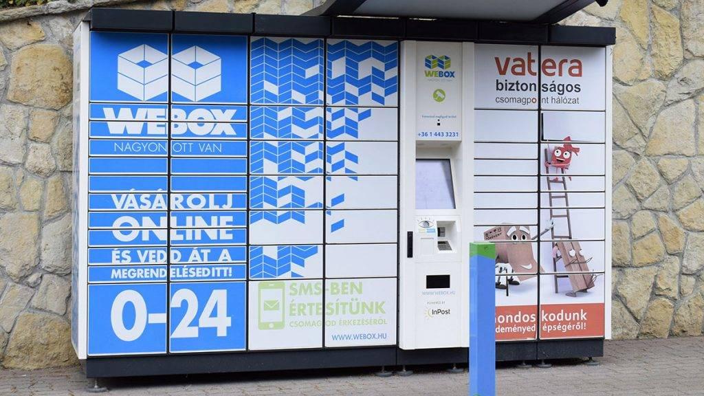 Budapest, 2017. június 30.Egy WEBOX csomagpont a III. kerületi Montevideo utcában.MTVA/Bizományosi: Róka László ***************************Kedves Felhasználó!Ez a fotó nem a Duna Médiaszolgáltató Zrt./MTI által készített és kiadott fényképfelvétel, így harmadik személy által támasztott bárminemű – különösen szerzői jogi, szomszédos jogi és személyiségi jogi – igényért a fotó készítője közvetlenül maga áll helyt, az MTVA felelőssége e körben kizárt.