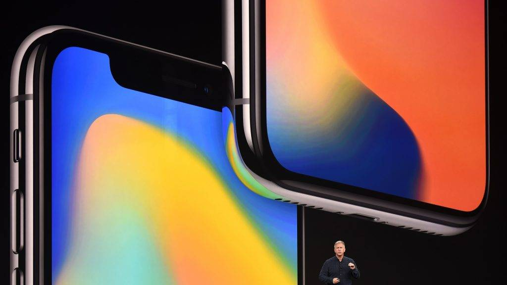 Senior Vice President of Worldwide Marketing at Apple Philip Schiller speaks about the iPhone X during a media event at Apple's new headquarters in Cupertino, California on September 12, 2017.  / AFP PHOTO / Josh Edelson