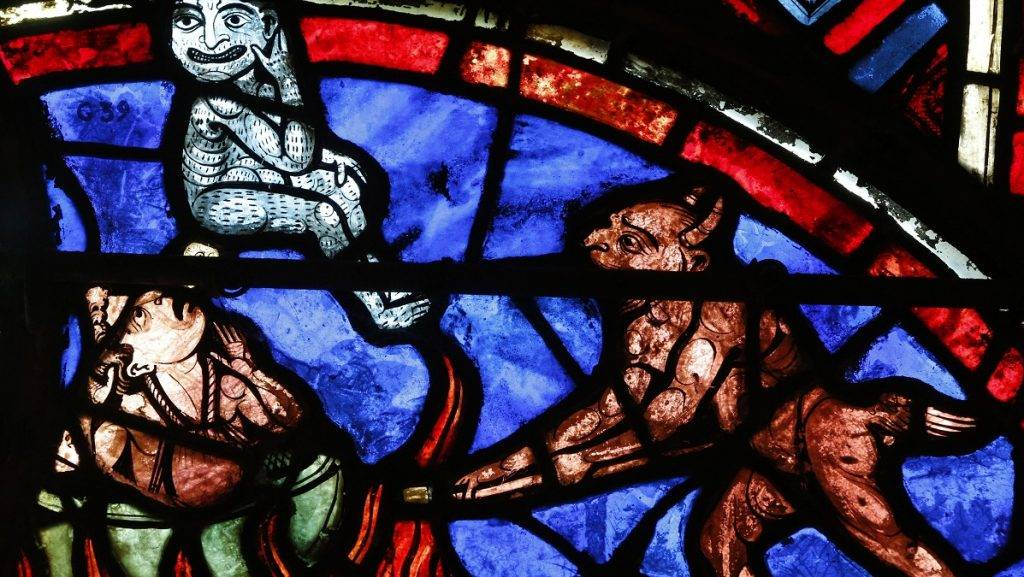 The Last Judgment - Stained-glass window - Bourges cathedral - 13th century, Bourges, France ©Fred de Noyelle/Godong/Leemage