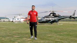 JOLIET, IL - AUGUST 01: Nemanja Nikolic of Chicago Fire arrives as Audi hits the track with Major League Soccer All-Star players ahead of MLS All-Star Game in Chicago at Autobahn Country Club on August 1, 2017 in Joliet, Illinois.   Daniel Boczarski/Getty Images for Audi/AFP