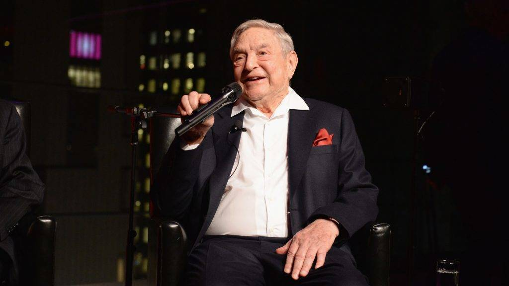 NEW YORK, NY - APRIL 18: George Soros speaks onstage at the PHR 2017 Gala at Jazz at Lincoln Center on April 18, 2017 in New York City.   Andrew Toth/Getty Images for Physicians for Human Rights/AFP