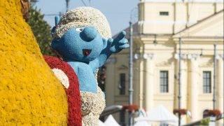 Debrecen, 2016. augusztus 20. Kompozíció a 47. alkalommal megrendezett debreceni virágkarneválon 2016. augusztus 20-án. A felvonuló 16 virágkocsit összesen kétmillió szál virággal díszítették. MTI Fotó: Balázs Attila