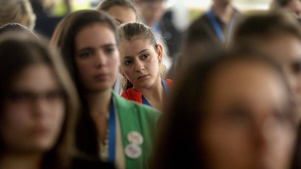 Budapest, 2015. március 24.A Lányok napja nyitórendezvény Csillebércen, a Magyar Tudományos Akadémia budapesti Wigner Adatközpontjában 2015 március 24-én. A rendezvényt a Nők a Tudományban Egyesület szervezte.MTI Fotó: Bruzák Noémi
