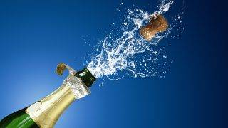 still with champaign popping and splashing
