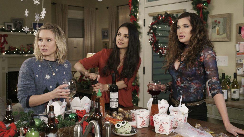 Kristen Bell, Mila Kunis, and Kathryn Hahn star in A BAD MOMS CHRISTMAS.