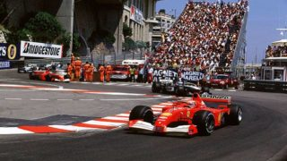 Monaco Grand PrixMonte Carlo, Monaco24th-27th May 2001Michael Schumacher, Ferrari, Leads Mika Hakkinen, West McLaren Mercedes, actionWorld copyright © LAT Photograhic