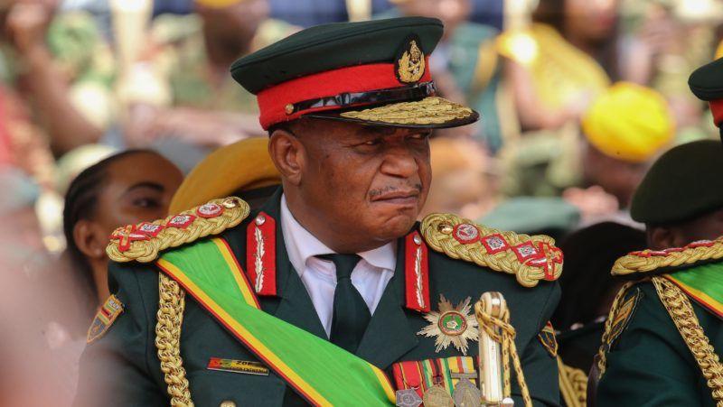 HARARE, ZIMBABWE - NOVEMBER 24: Zimbabwe Army General Constantino Chiwenga at the National Sports Stadium during Emmerson Mnangagwa's oath-taking ceremony following Robert Mugabe's resignation in Harare, Zimbabwe on November 24, 2017.    Tafadzwa Ufumeli / Anadolu Agency