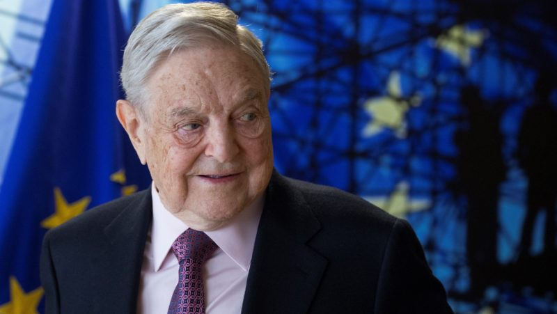 BRUSSELS, BELGIUM - APRIL 27: A billionaire investor George Soros meets with European Union Commission President Jean Claude Juncker (not seen) in Brussels, Belgium on April 27, 2017.   Olivier Hoslet / EPA / Pool / Anadolu Agency
