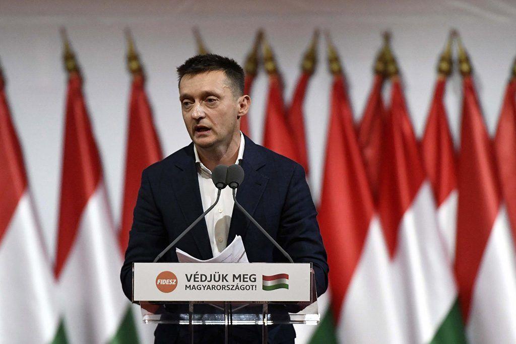 Budapest, 2017. november 12.Rogán Antal, a Miniszterelnöki Kabinetirodát vezető miniszter felszólal a Fidesz XXVII., tisztújító kongresszusán a budapesti Hungexpón 2017. november 12-én.MTI Fotó: Koszticsák Szilárd