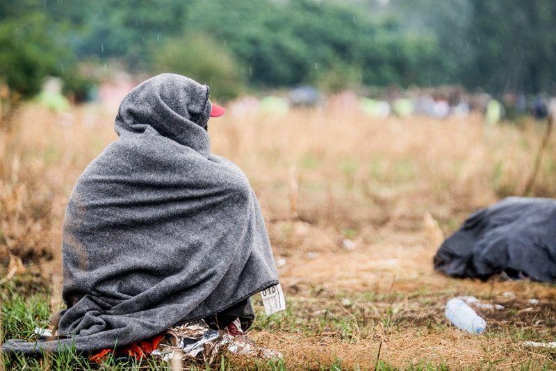 Horgos, 2016. július 26.Éhségsztrájkot folytató migráns a szerb-magyar határ közelében Horgosnál 2016. július 26-án. Két nappal korábban 130 migráns érkezett gyalog Belgrádból Horgosra, akik közül július 25-én mindössze negyvenen folytattak éhségsztrájkot a tranzitzóna közelében, hogy Magyarország megnyissa a határt előttük.MTI Fotó: Balogh Zoltán