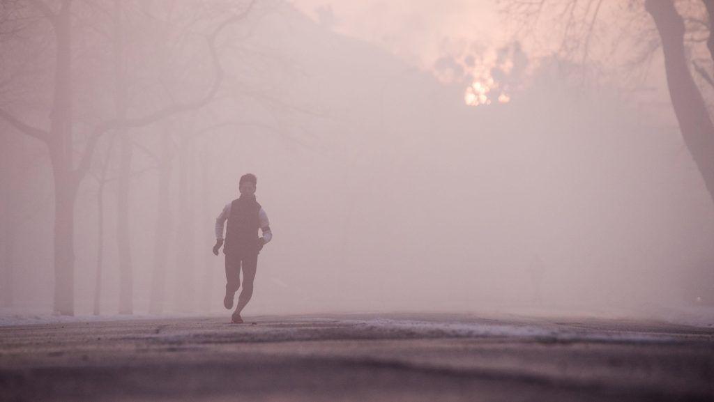 Budapest, 2017. február 3. Reggeli köd a Városligetben 2017. február 3-án. MTI Fotó: Balogh Zoltán