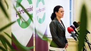 Budapest, 2017. február 14.Szabó Tímea, a Párbeszéd Magyarországért (PM) társelnöke sajtótájékoztatót tart a párt fővárosi irodájában 2017. február 14-én. A PM kiszáll a baloldali pártok előválasztásokról szóló tárgyalásaiból, ezzel véget érnek az általuk kezdeményezett ilyen témájú tárgyalások – jelentette be Szabó Tímea.MTI Fotó: Balogh Zoltán