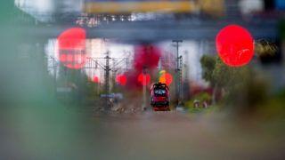 Budapest, 2017. október 6.Mozdony a Termofeszt vasútmodell kiállításon a budapesti Magyar Vasúttörténeti Parkban 2017. október 6-án.MTI Fotó: Balogh Zoltán