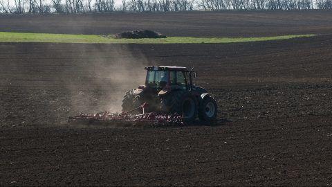 Hajdúböszörmény, 2014. március 11. Egy traktor boronálással készít elõ vetéshez egy szántóföldet Hajdúböszörmény határában 2014. március 11-én. A tavaszias idõjárásnak köszönhetõen megkezdõdtek a tavaszi mezõgazdasági munkák a földeken Hajdú-Bihar megyében. MTI Fotó: Czeglédi Zsolt