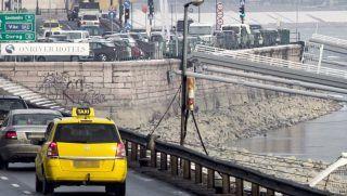 Budapest, 2017. január 16. A Margit híd budai mederíve 2017. január 16-án. MTI Fotó: Szigetváry Zsolt