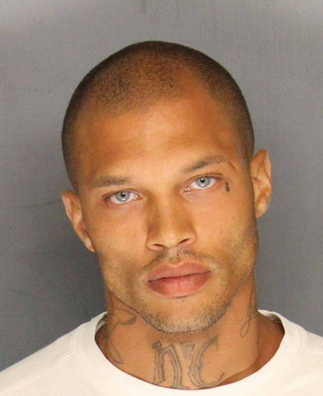 STOCKTON, CA - JUNE 18:  In this handout photo provided by the Stockton Police Department, Jeremy Meeks is seen in a police booking photo after his arrest on felony weapon charges June 18, 2014 in Stockton, California.  (Photo by Stockton Police Department via Getty Images)