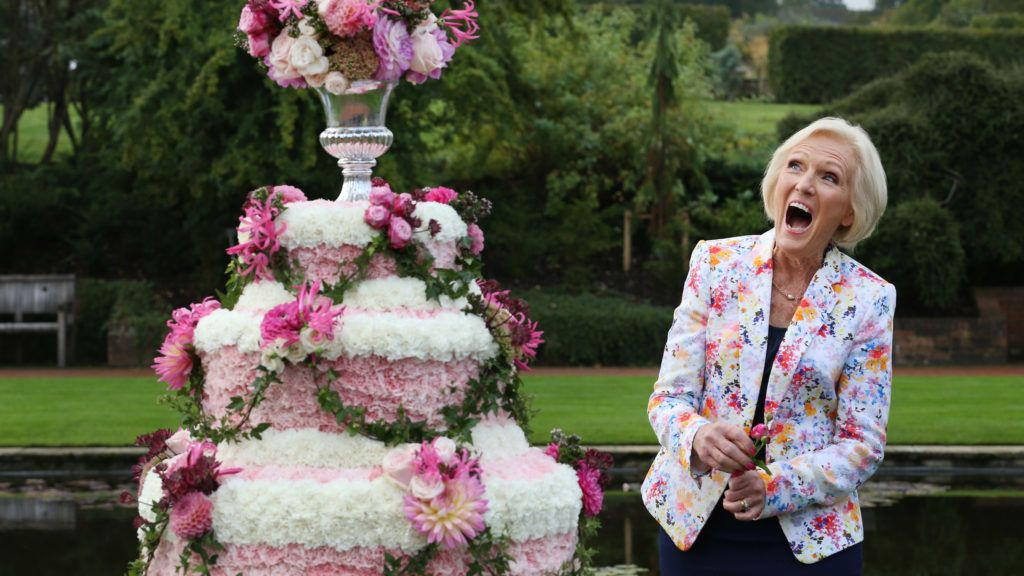 WISLEY, SURREY - SEPTEMBER 02:  Royal Horticultural Society (RHS) Ambassador and cook Mary Berry laughs as she attends the opening of the RHS Flower Show at Wisley Gardens on September 2, 2014 in Wisley, England. 40,000 visitors are expected to enjoy the range of floral art and specialist nursery exhibits during the six day show which opens today.  (Photo by Peter Macdiarmid/Getty Images)