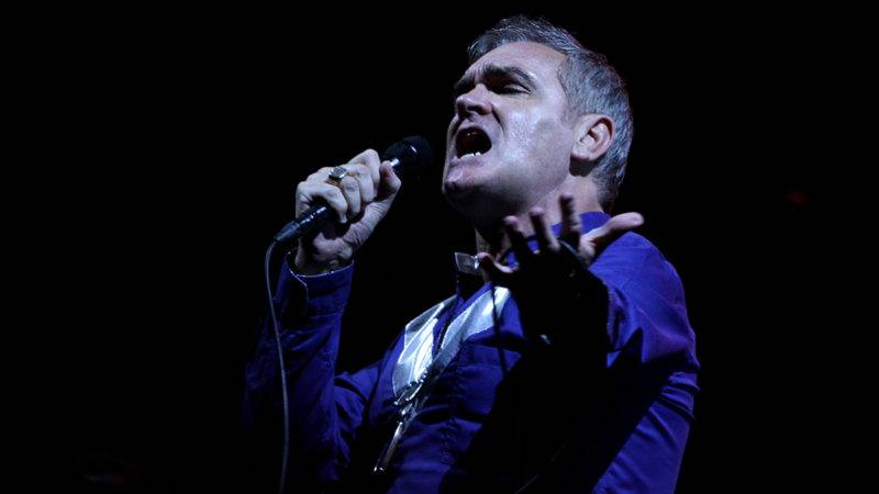 LOS ANGELES, CA - AUGUST 23:  Singer Morrissey performs onstage at FYF at the LA Sports Arena & Exposition Park on August 23, 2015 in Los Angeles, California.  (Photo by Matthew Simmons/WireImage)