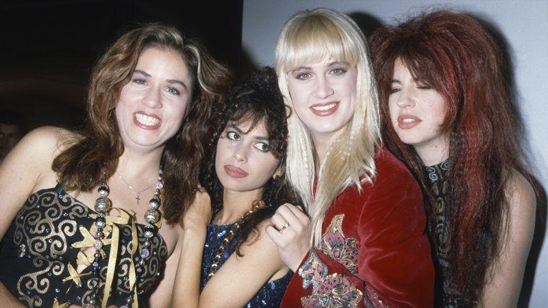 The Bangles, Susanna Hoffs, Vicki Peterson, Debbi Peterson, Michael Steele, Diamond Awards Festival, Antwerpen, Belgium, 19/11/1988. (Photo by Gie Knaeps/Getty Images)