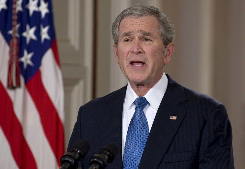 Washington, 2009. január 16.George W. BUSH leköszönő amerikai elnök országos tévébeszédben búcsúzik az amerikai néptől a washingtoni Fehér Házban 2009. január 15-én. Bush nyolcévi elnökség után 2009. január 20-án adja át hivatalát az első, megválasztott afroamerikai elnöknek, Barack Obamának. (MTI/EPA/Mannie Garcia)