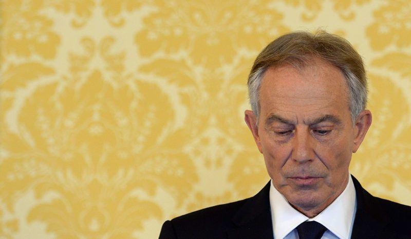London, 2016. július 6.Tony Blair, a 2003-as Irak elleni amerikai-brit invázió megindításakor hivatalban lévő egykori brit miniszterelnök sajtóértekezletet tart a háború hátterét feltáró jelentéssel kapcsolatban a londoni Admiralitás-házban 2016. július 6-án, a beszámolót nyilvánosságra hozásának napján. A tizenkét kötetes, 2,6 millió szavas Chilcot-jelentést több mint hét éven át készítette egy független bizottság Sir John Chilcot egykori magas rangú brit diplomata vezetésével. (MTI/EPA/PA pool/Stefan Rousseau)