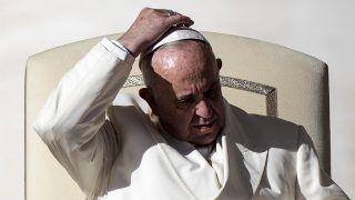 Vatikánváros, 2017. november 8. Ferenc pápa heti általános audienciáját tartja a vatikáni Szent Péter téren 2017. november 8-án. (MTI/EPA/Angelo Carconi)
