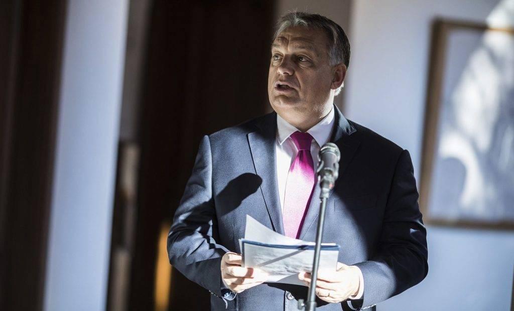 Budapest, 2017. november 20. A Miniszterelnöki Sajtóiroda által közreadott képen Orbán Viktor miniszterelnök beszédet mond a Makovecz Központ és Archívum megnyitóján Budapesten 2017. november 20-án. MTI Fotó: Miniszterelnöki Sajtóiroda / Szecsõdi Balázs