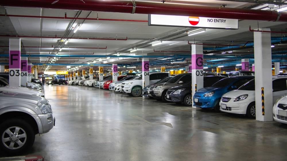parking lot underground interior