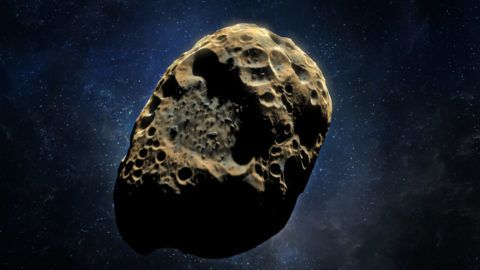 3D rendering of an asteroid