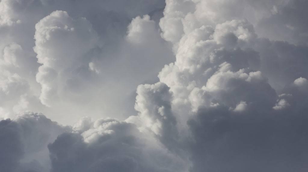 Close up clouds in  sky before rain