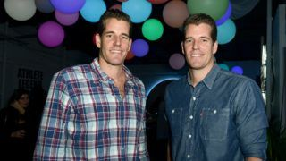 AUSTIN, TX - MARCH 16: (L-R) Cameron Winklevoss and Tyler Winklevoss attend Marie Claire Celebrates HBO's VEEP With Dinner Hosted By Spotify on March 16, 2015 in Austin, Texas.   Alli Harvey/Getty Images for Spotify/AFP