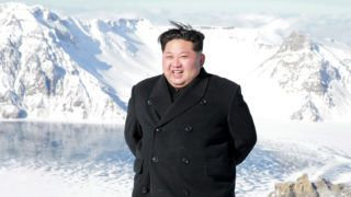 """This undated picture released from North Korea's official Korean Central News Agency (KCNA) on December 09, 2017 shows North Korean leader Kim Jong-Un visiting Mount Paektu in Ryanggang Province. / AFP PHOTO / KCNA VIS KNS / - / South Korea OUT / REPUBLIC OF KOREA OUT   ---EDITORS NOTE--- RESTRICTED TO EDITORIAL USE - MANDATORY CREDIT """"AFP PHOTO/KCNA VIA KNS"""" - NO MARKETING NO ADVERTISING CAMPAIGNS - DISTRIBUTED AS A SERVICE TO CLIENTS THIS PICTURE WAS MADE AVAILABLE BY A THIRD PARTY. AFP CAN NOT INDEPENDENTLY VERIFY THE AUTHENTICITY, LOCATION, DATE AND CONTENT OF THIS IMAGE. THIS PHOTO IS DISTRIBUTED EXACTLY AS RECEIVED BY AFP.  /"""